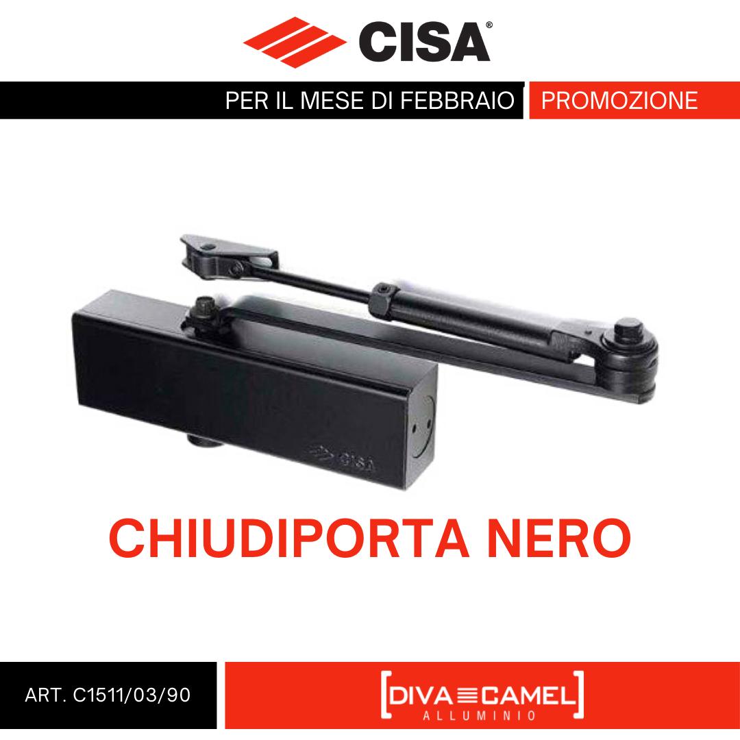 Chiudiporta Nero CISA